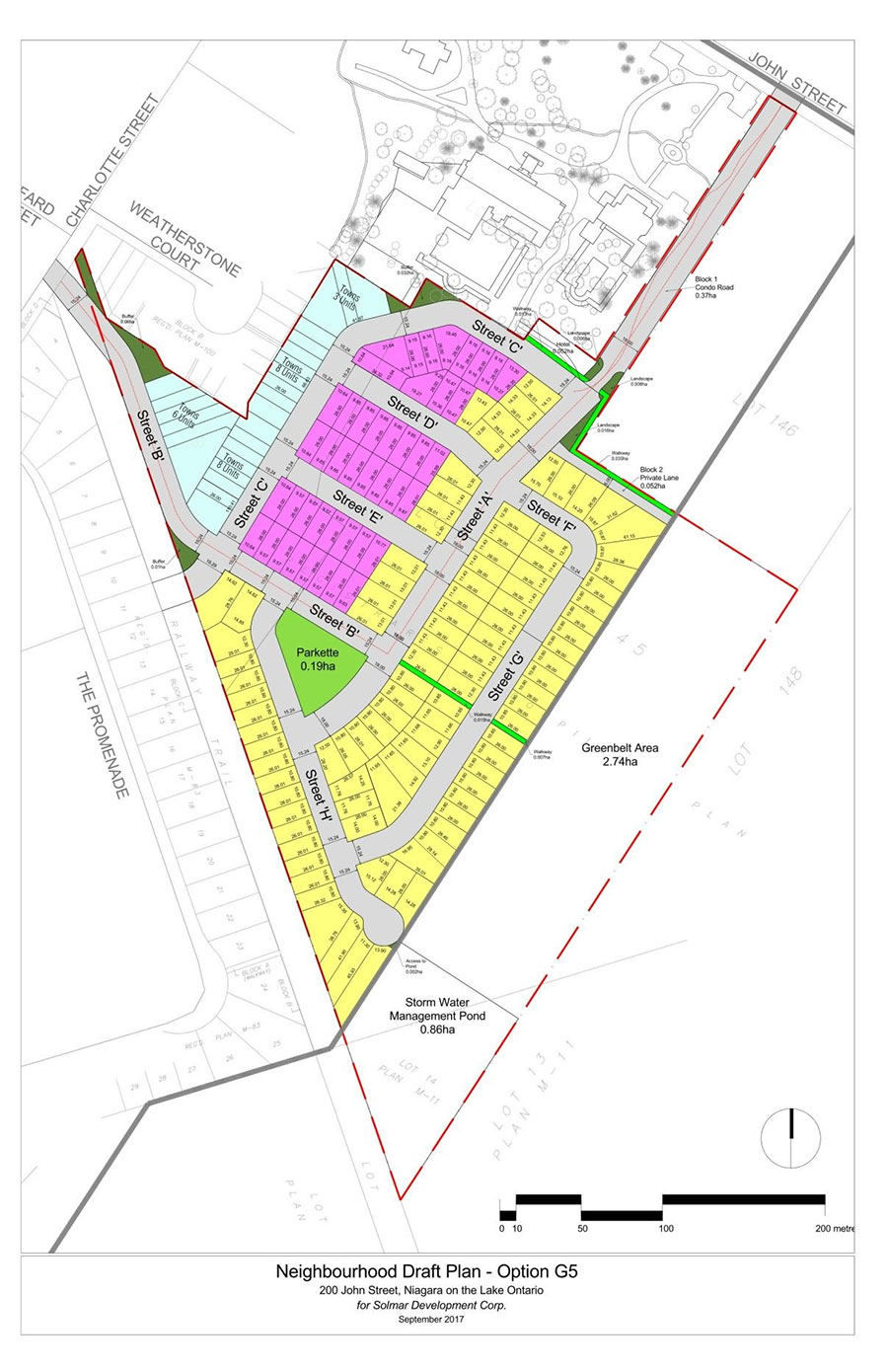 Solmar subdivision plan for 200 John Street in Niagara on the Lake