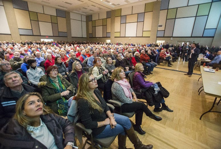More than 600 citizens concerned about Randwood Estate packed the Jan. 25 meeting at NOTL Community Centre.