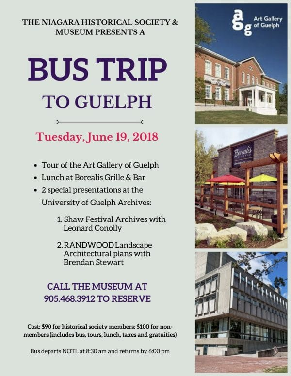 Guelph bus trip poster 2018