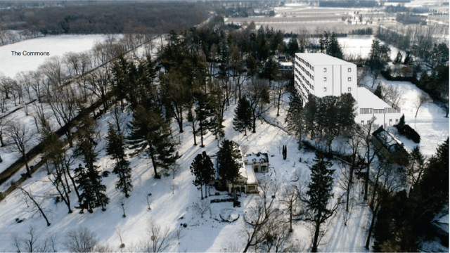 Mockup of view of hotel/conference facility proposed for Rand Estate