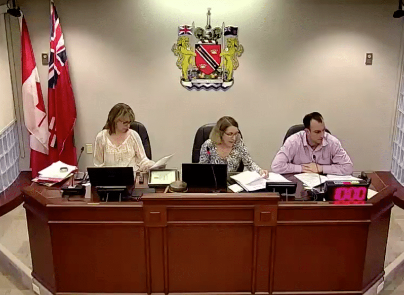 Screen shot from NOTL MHC meeting on May 14, 2018.