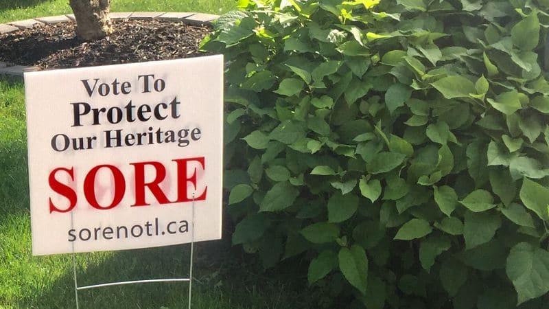SORE yard sign