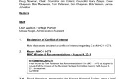 8 - Sept 13, 2011 MHC Meeting Minutes & Sept 19, 2011 Council Minutes