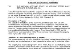 25 - Notices of Intention to Designate