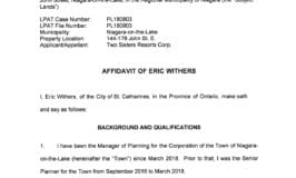 1. Affidavit of E Withers