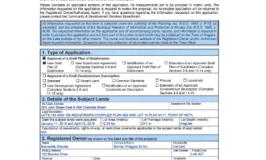 Rand Subdivision Application Form Draft Plan of Subdivision