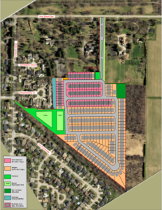 Aerial depiction by SORE of proposed Rand subdivision